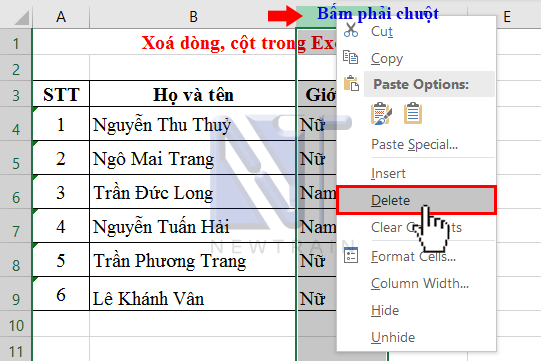 xoa-dong-cot-trong-excel