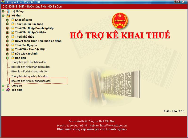 Kê khai thuế và lập báo cáo tài chính - kế toán lập trực tiếp trên phần mềm HTKK