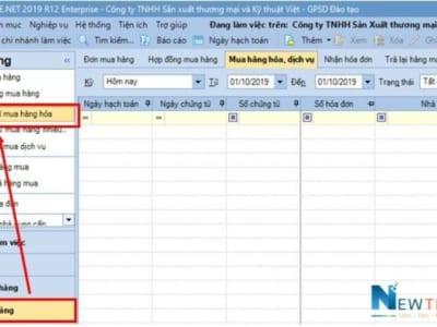 Hướng dẫn hạch toán nghiệp vụ mua hàng trong Misa